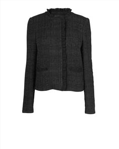 Jaeger, Black, original Chanel Jacket, Tweed Jacket, The Originals, Sweaters, Jackets, Notes, Black, Inspiration, Style