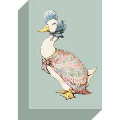 Beatrix Potter, Jemima Puddle-Duck Canvas Print, Artko Ltd Beatrix Potter, Peter Rabbit, Dinosaur Stuffed Animal, Childhood, Canvas Prints, Room Inspiration, Classic, Backyard, Animals