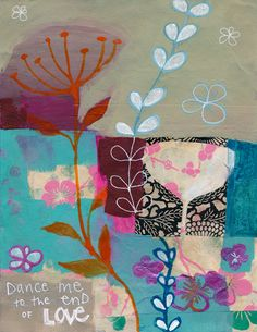 dance me to the end of love - alena hennessy. Making paintings of the songs you love.