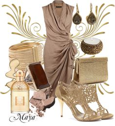 """""""Gold - The Color of Success and Wealth"""" by majka000 ❤ liked on Polyvore"""