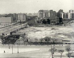 Solar de AZCA donde se construirá El Corte Inglés de Castellana - 1960