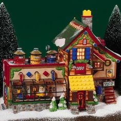 Part One : Popular Toys by Decade, with Lemax and Dept. Lego Christmas Village, Lego Winter Village, Dept 56 Snow Village, Santa's Village, Christmas Town, Christmas Villages, Xmas, Christmas Vacation, Disney Christmas