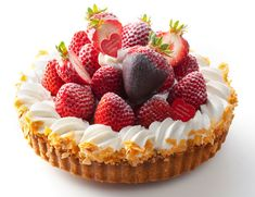 人気のバースデイケーキ★その4 : banana dairy Cute Desserts, Delicious Desserts, Yummy Food, Tart Recipes, Dessert Recipes, Pie Co, Valentines Food, Fruit Tart, Dessert Decoration