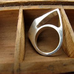 Free Shipping - Slice Ring in Sterling Silver. $58.00, via Etsy.