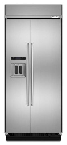 View the KitchenAid KBSD606E 37 Inch Wide 20.8 Cu. Ft. Built-In Side-by-Side Refrigerator with ExtendFresh and External Ice and Water Dispenser at Build.com.