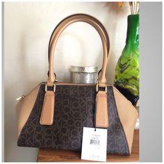 CK LOGO SATCHEL CK HANDBAG/SATCHEL Calvin Klein Bags