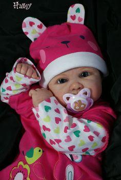 Reborn baby girl NEW KIT Hailey Cindy-Lee Ibbetson/ 150 Worldwide Glasseyes | eBay