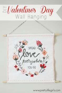 DIY Valentine Wall Hanging - SO cute!
