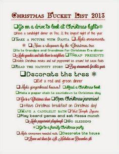 Christmas Bucket List #Christmas #bucketlist