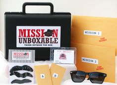 Secret Agent Spy Disguise kit with Briefcase -- Ultimate Spy Kit on Etsy, $25.00