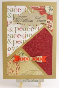 Carte de Voeux Meilleurs Voeux. Best Wishes Card. By Msi's Boutik.