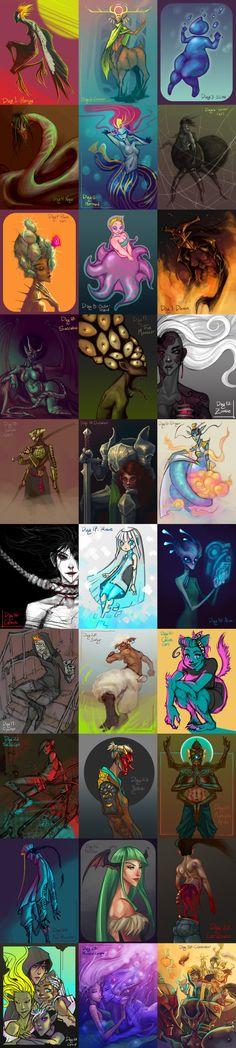 30 Day Monster Girl Challenge by Tyshea.deviantart.com on @deviantART