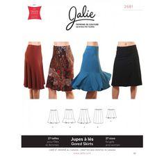 Jalie 2681 - Knit Gored Skirts Pattern