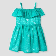 Toddler Girls' A Line Dress Genuine Kids™ from OshKosh® - Tropical Green