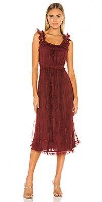 Shop for Tularosa Coraline Dress in Cabernet at REVOLVE. Lace Midi Dress, Rose Dress, Dress Red, Purple Dress, Coraline, Robes D'inspiration Vintage, Rose Lace, Vintage Inspired Dresses, Ladies Dress Design