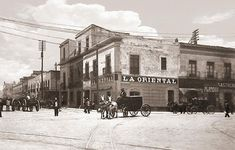 Manzana demolida para construir el Palacio de Bellas Artes. Cruce de Eje Central y avenida Hidalgo. En ese entonces Santa Isabel y Puente de la Mariscala. Esquina noreste de la manzana 1902