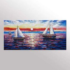 Sail Boat Painting, Original Wall Art, Seascape Painting, Framed Art, Canvas Art, Wall Art, Original Art, Canvas Painting, #painting #art #abstractpainting #canvasart #abstractart #walldecor #landscapepainting Framed Art, Original Wall Art, Hand Painting Art, Painting, Abstract Wall Art, Abstract Canvas Art, Art, Sailboat Painting, Seascape Paintings