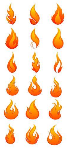 火・炎・ファイアの無料イラスト