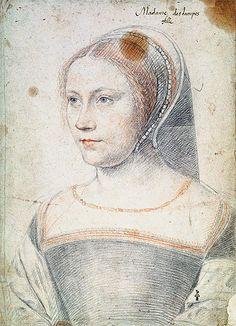Anne de Pisseleu, Duchesse d'Etampes or Possibly Diane de Poitiers as a Widow - Francois Clouet - Print on Fine Art Paper
