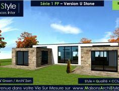 serie 1 pp 11 maison archistyle toit terrasse grandes baies maison plein pied construction moderne constructeur - Maison Moderne En Acier De Plain Pied