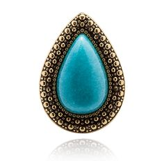SAMANTHA WILLS - MOCHA EXCLUSIVE BOHEMIAN BARDOT RING - PACIFIC BLUE