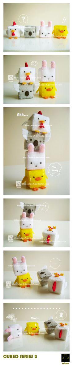 cubed animal plushies [deviantART: ~aiwa-9]