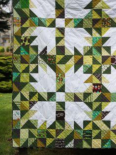 The Goldilocks Quilt - A Scrappy Bear Paw Quilt // Michael Ann Made