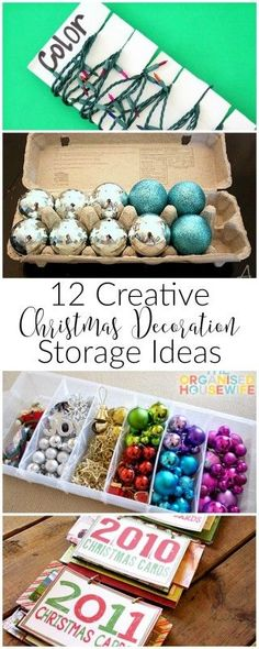 Even though nobody wants to put away those pretty decorations, you have to eventually. Here's 12 creative Christmas decoration storage ideas to help out!