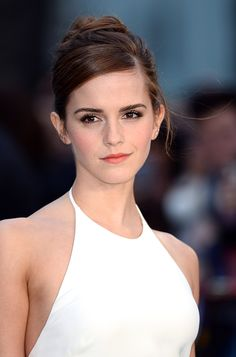 10 celebrity top knot hairstyles to keep you cool and chic this summer // Emma Watson