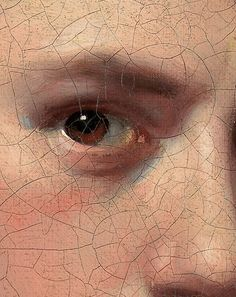 Craquelure! Joseph Wright of Derby Self-Portrait (Detail) 1765-68