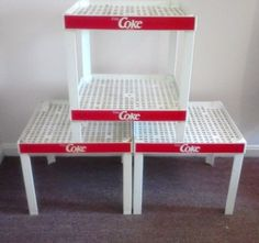 Coca Cola Advertising Stackable Display Shelf by FingerLakesFinds, $95.00