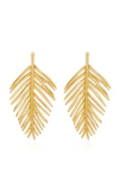 Palm Leaf Earring by Oscar de la Renta