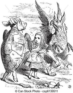 Sir John Tenniel – British illustrator, graphic humorist and political cartoonist who illustrated Lewis Carroll's Alice's Adventures in Wonderland. John Tenniel, Lewis Carroll, Chesire Cat, Adventures In Wonderland, Wonderland Alice, Mock Turtle, Through The Looking Glass, Mythology, Illustration Art