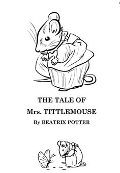 tittlemouse by beatrix potter too clean and tidy