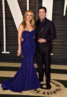 John Travolta e Kelly Preston em um evento para o Oscar (2015) -  /   John Travolta and Kelly Preston at an event for The Oscars (2015) -