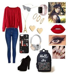 """""""Sin título #14"""" by angiecg2004-20 on Polyvore featuring moda, Topshop, New Look, Hollister Co., Illesteva, Lime Crime, Lipsy, H&M y B&O Play"""