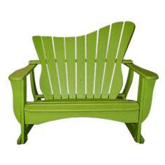 Outdoor Uwharrie Wave Double Seat Settee Rocker - 7053-030P-LSF