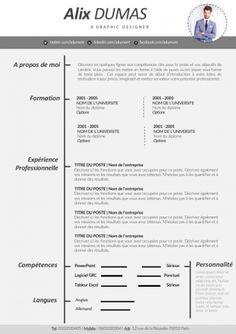 CV avec Style Gratuit à télécharger.