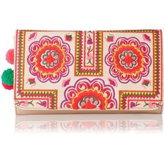 Tuk Tuk Embroidered Clutch Bag ($475) ❤ liked on Polyvore