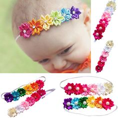 8b13ce989c5 Kids Girl Colorful Six Flowers Hair Band Headband Photo Props 7EIS 9CTD.  Yesterday s price