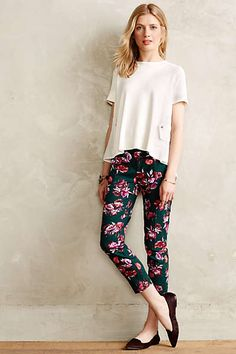 Anthropologie - Floral Charlie Trousers
