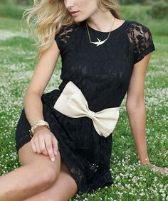 Beautiful. Black Lace Moresby Dress by Mismash. #zulilyfinds