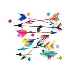 "arrows 2 unframed print 11x14"" - Shana Frase"