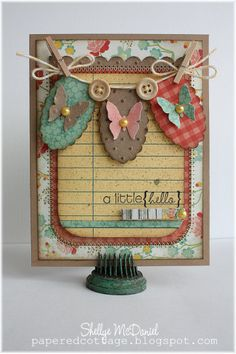 Beautiful Spring Card from Papered Cottage: Krafting at The Kraft Outlet