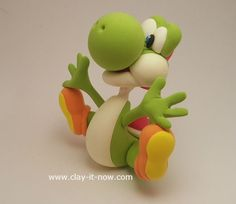 This Yoshi clay is a green version of Yoshi from Mario Bros character. Follow our tutorial to make this cute creature.