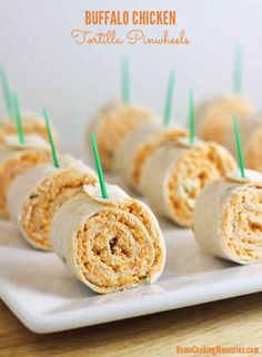 Buffalo Chicken Tortilla Pinwheels | 23 Pinwheel Snacks That Taste As Good As They Look