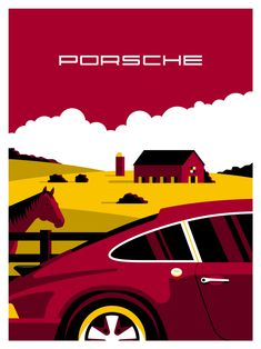 Promotional illustration for Porsche and Rabbit Hole party Porsche Carrera, Porsche Panamera, Porsche Autos, Porsche Logo, Custom Porsche, Bmw Logo, Bmw I8, Toyota Prius, Motosport