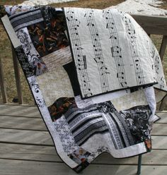 Music Quilt on Etsy, $85.00