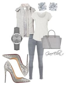 50 shades of grey edition by miss-grace-ellen on Polyvore featuring polyvore fashion style Witchery J Brand Christian Louboutin MICHAEL Michael Kors Burberry Tiffany & Co. clothing