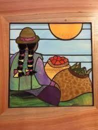 Resultado de imagen para mosaico valparaiso Stained Glass Crafts, Stained Glass Patterns, Peruvian Art, Latino Art, Southwestern Art, Art Africain, Mosaic Diy, China Painting, Naive Art